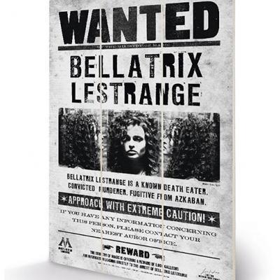 Harry potter bellatrix wanted impression sur bois 20x29 5