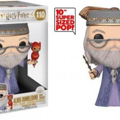 Harry potter bobble head pop n 110 dumbledore w fawkes 10
