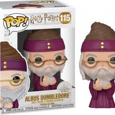 Harry potter bobble head pop n 115 dumbledore w baby harry