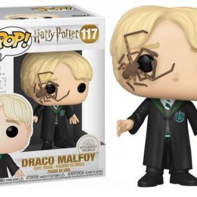Harry potter bobble head pop n 117 malfoy w whip spider