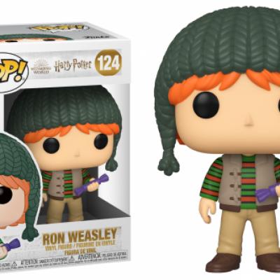 Harry potter bobble head pop n 124 holiday ron weasley