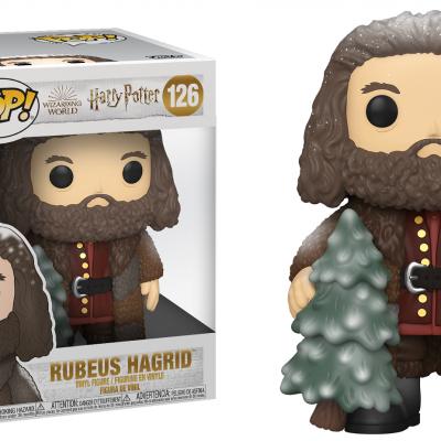 Harry potter bobble head pop n 126 holiday rubeus hagrid 15cm