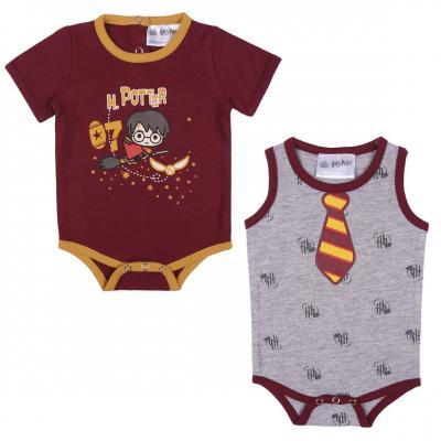 Harry potter boite 2 bodys bebe en jersey