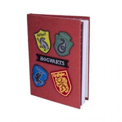Harry potter cahier a5 avec patchs velcro