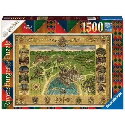 Harry potter carte de poudlard puzzle 1500p