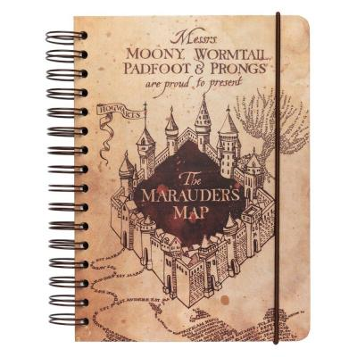 Harry potter carte du maraudeur cahier a5 5
