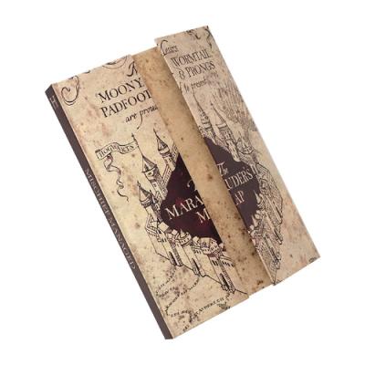 Harry potter carte du maraudeur cahier a5 a ouverture magnetique