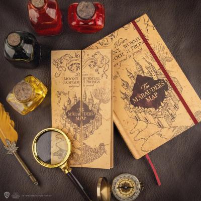 Harry potter carte du maraudeur cahier a5