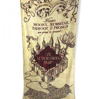 Harry potter carte du maraudeur serviette de bain 75x150cm