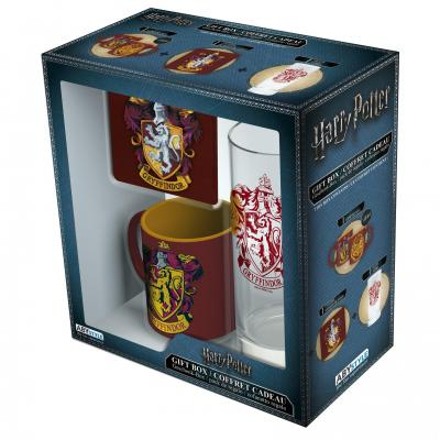 Harry potter coffret cadeau gryffindor glass coaster mini mug