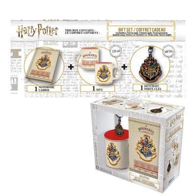Harry potter coffret cadeau mug keyring mini notebook poudlard