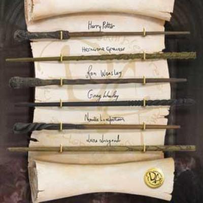 Harry potter collection de baguettes de l armee de dumbledore