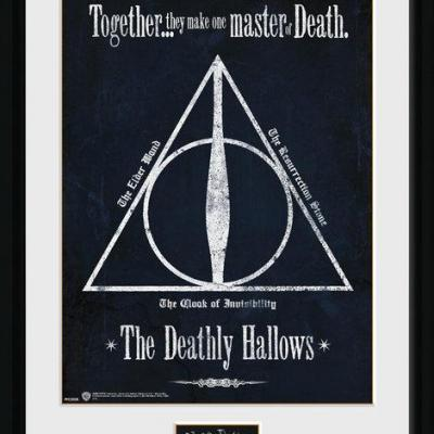 Harry potter collector print 30x40 deathly hallows