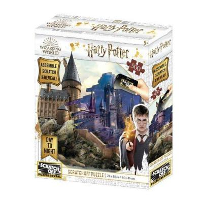 Harry potter day night scratch puzzle 500p 61x46cm