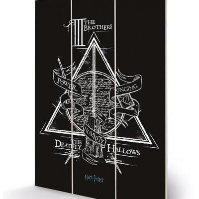 Harry potter deathly hallows impression sur bois 20x29 5