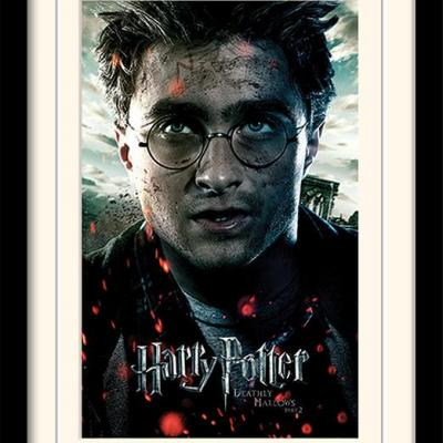 Harry potter deathly hallows part2 impression encadree 30x40