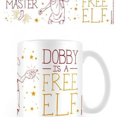 Harry potter dobby is a free elf mug 300ml