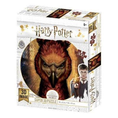 Harry potter fawkes puzzle lenticulaire 3d 300p 46x31cm