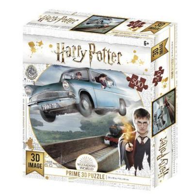Harry potter ford anglia puzzle lenticulaire 3d 500p 61x46cm