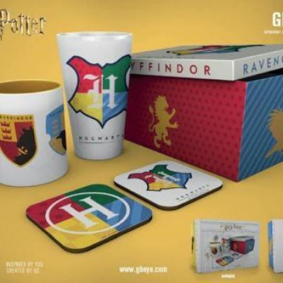 Harry potter gift box chope mug 2 dessous de verre house pride