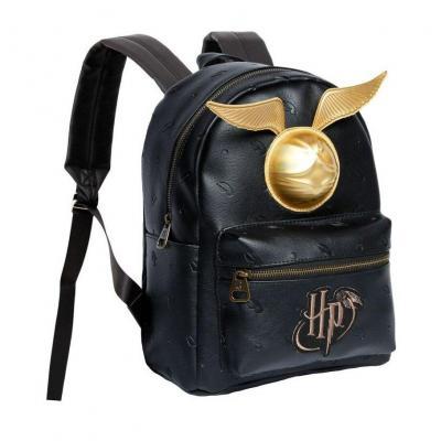 Harry potter golden snitch black sac a dos 24x32x14cm
