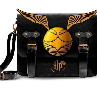 Harry potter golden snitch black sac bandouliere 20x15x8cm