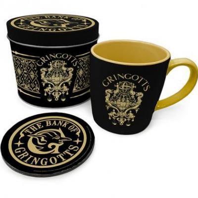 Harry potter gringotts box metal mug sous verre