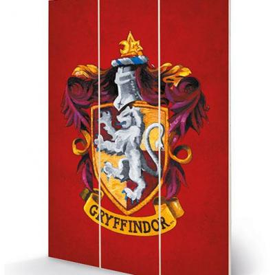 Harry potter gryffindor crest impression sur bois 20x29 5