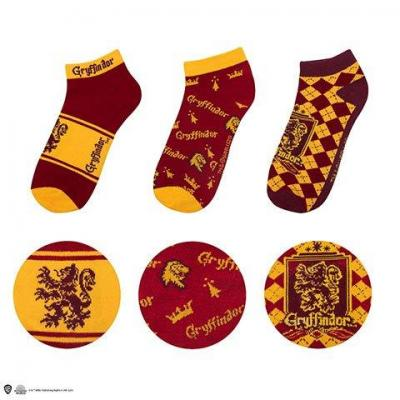 Harry potter gryffondor lot de 3 paires de chaussettes