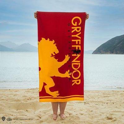 Harry potter gryffondor serviette de plage 100 coton 70x140cm