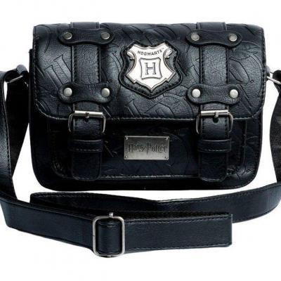 Harry potter hogwarts black sac bandouliere 20x15x8cm