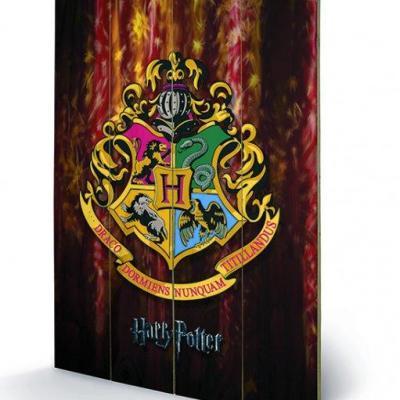 Harry potter hogwarts crest impression sur bois 40x59cm
