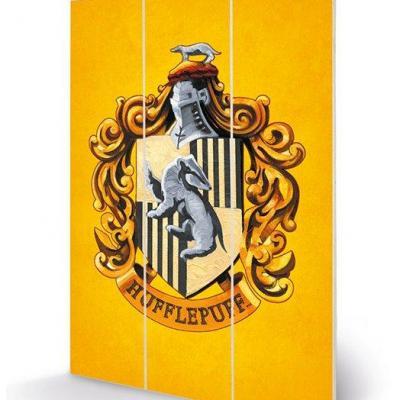 Harry potter hufflepuff crest impression sur bois 20x29 5