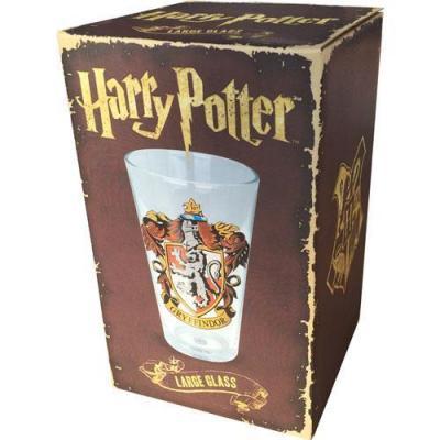 Harry potter large glass 500 ml gryffindor crest