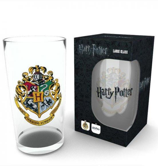 Harry potter large glasses 500ml crest