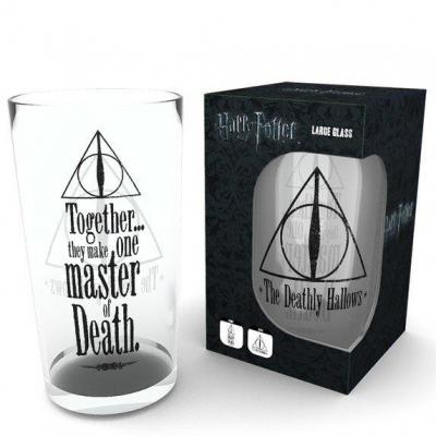 Harry potter large glasses 500ml deathly hallows