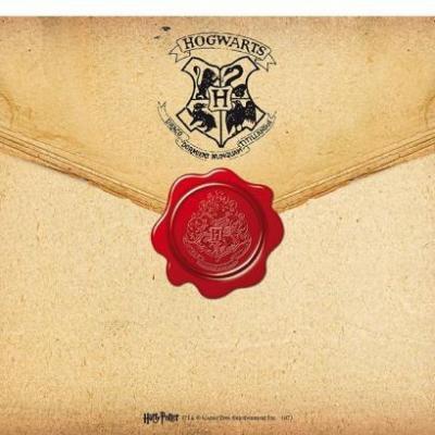 Harry potter lettre poudlard tapis de souris 23 5x19 5cm
