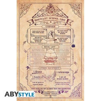 Harry potter liste scolaire poster 91x61cm