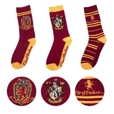 Harry potter lot 3 paires chaussettes gryffondor taille 37 46