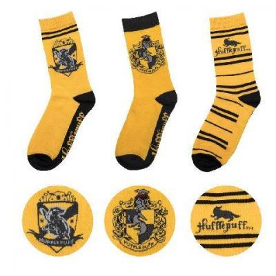 Harry potter lot 3 paires chaussettes poufsouffle taille 37 46