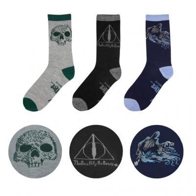 Harry potter lot de 3 paires de chaussettes deathly taille 37 46