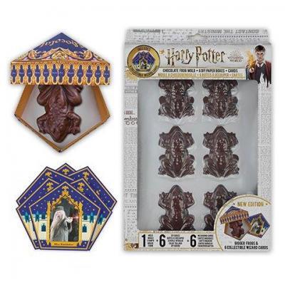 Harry potter moule a chocogrenouille 6 boites 6 cartes sorciers