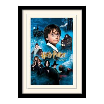 Harry potter mounted framed 30x40 print philosophers stone