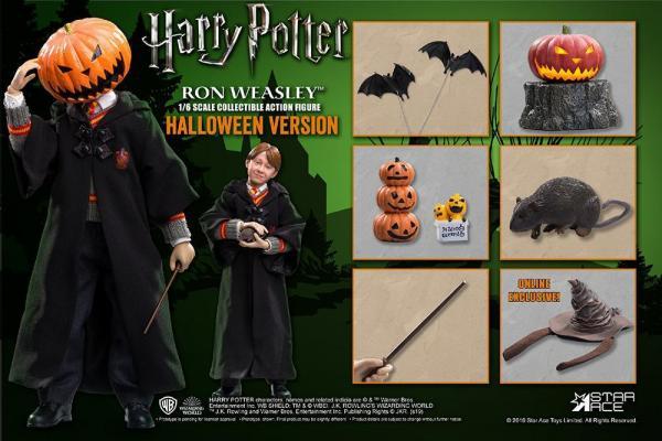 Harry potter movie figure 1 6eme ron weasley halloween limited 30cm 2