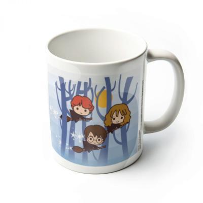 Harry potter mug 300 ml kawaii harry ron hermione flying