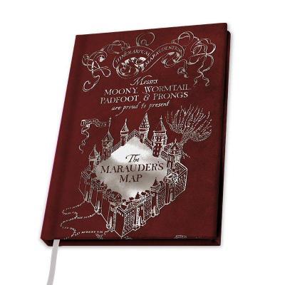 Harry potter notebook a5 carte du maraudeur