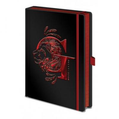 Harry potter notebook a5 premium gryffindor foil