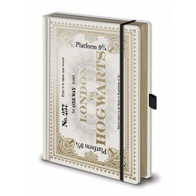 Harry potter notebook a5 premium hogwarts express ticket