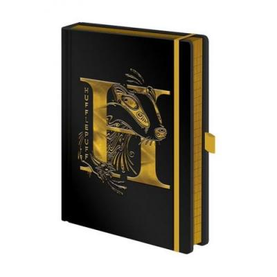 Harry potter notebook a5 premium hufflepuff foil