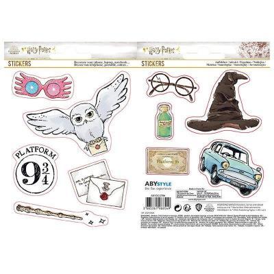 Harry potter objets magiques set de 2 planches de stickers